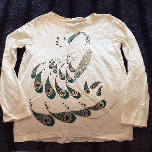 Tea Peacock Long Sleeve T shirt